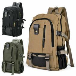 Men Retro Canvas Backpack Rucksack Travel Sport Schoolbag La