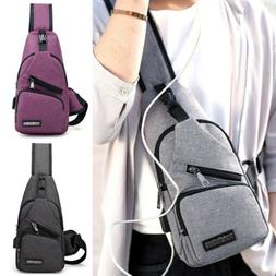 Men's Anti-theft Nylon Chest Sling Bag Cycle Backpack Should
