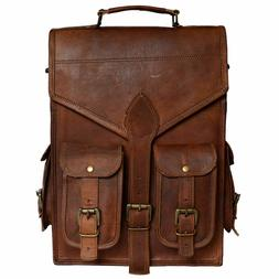 Men's Bag Casual Business Leather Backpack Messenger Vintage