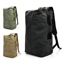 Men's Canvas Backpack Rucksack Hiking Travel Duffle Bag Mili