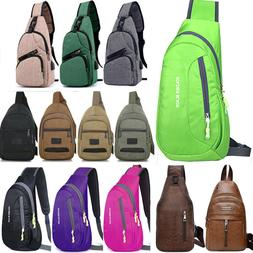 Men's Crossbody Shoulder Bags Chest Cycle Sling Pack Messeng