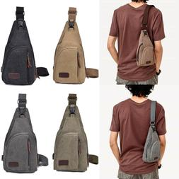 Men's Military Canvas Satchel Shoulder Bag Messenger Bag Tra