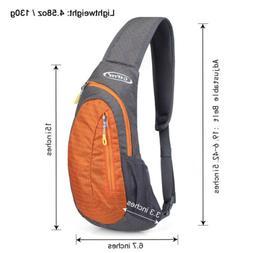 Men's Nylon Sling Bags Backpack Mini Chest Pack Messenger Sc