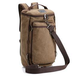 Men's Vintage Canvas Backpack Rucksack Shoulder Travel Campi