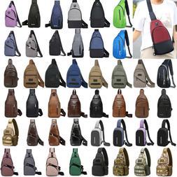 Men Sling Bag Chest Pack Cycle Travel Sports Backpack Should