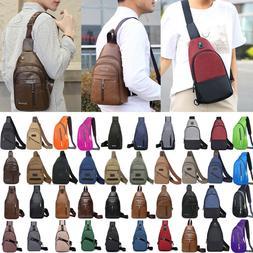 Men Sling Bags Chest Pack Travel Backpack Messenger Shoulder