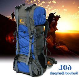 Men Travel Camping Hiking Climbing Rucksack Outdoor Backpack