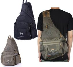 Men Women Large Sling Bag Backpack Chest Shoulder Pack Schoo