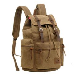 Military Rucksack Retro Canvas Bag Travel Hiking Camping Bag