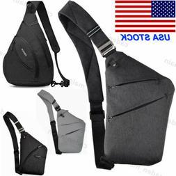 Men's Women Nylon Crossbody Shoulder Chest Cycle Sling Bag D