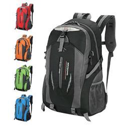 Men Women Travel Canvas Backpack Rucksack Camping Laptop Hik