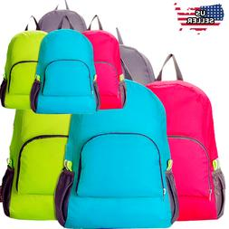 Men Women Travel Sport Bag Canvas School Rucksack Camping Hi