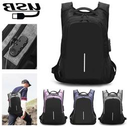 Mens Laptop Backpack Anti Theft With USB Charging Port + Loc