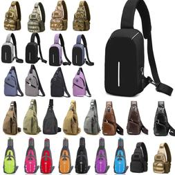 Mens Sling Bag Chest Pack Cycle Travel Sports Backpack Shoul