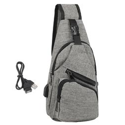 Mens Sling One Arm Bag Anti-Theft Backpack Crossbody Commute