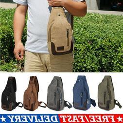 Mens Tactical Sling Chest Bag Assault Pack Messenger Shoulde
