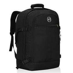 Mens Weekend Luggage Travel Backpack Carry on Black Bags Out