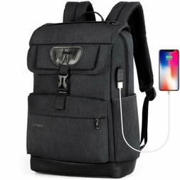 Mens Womens Anti-Theft Laptop Backpack USB Charging Notebook