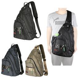 Mens Womens Laptop Large Sling Bag Backpack Chest Pack Schoo
