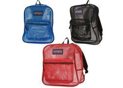 JANSPORT Mesh Backpack NEW 3 Colors School Gym Travel Book B