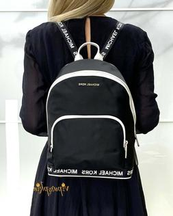 Michael Kors Connie Nylon Medium Logo Tape Sport Backpack Bl