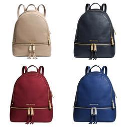 Michael Kors Rhea Zip Medium Leather Backpack in Varies Colo