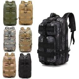 Military Tactical Backpack 30L Outdoor Durable Rucksack Wate