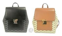 Michael Kors Mindy Signature PVC Leather Medium Backpack Bag