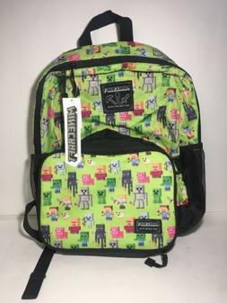 Minecraft 16in kids backpack with matching insulated lunch b