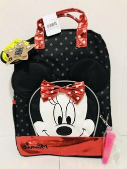 minnie mouse backpack black red polka dots