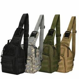 Molle Tactical Sling Chest Bag Assault Pack Messenger Should