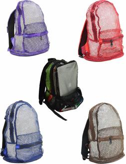 Multi Color Mesh See Through Backpack New With Tags