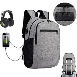 Multi-function lock shoulder Slim Laptop Backpack 17 Inch ,
