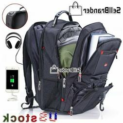 Swiss Multifunctional 17'' Laptop Backpack Travel Camping US
