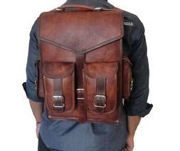 New Bag Leather School Vintage Messenger Shoulder Men Satche