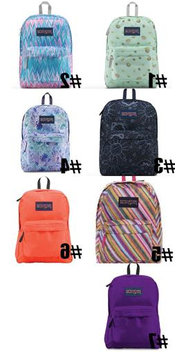 New Jansport Boys or Girls Superbreak Backpack Choose Color
