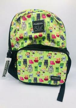 New Jinx Minecraft 16in Kids Backpack With Matching Insulate