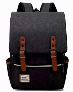 NEW Kenox Backpacks Vintage Style Black Laptop College Schoo