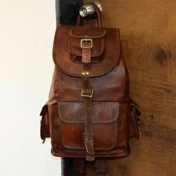 New Large Genuine Leather Backpack Rucksack Travel Bag For M