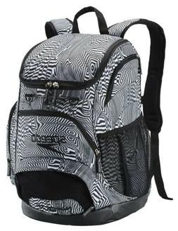 New - Speedo Large Teamster 35L Swim Bag Backpack - Black/Wh