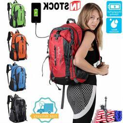 NEW Mens Womens Travel Sports USB Charging Backpack Laptop N