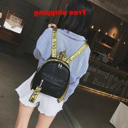 NEW Off-White Style Virgil Abloh Backpack small Bag For Trav