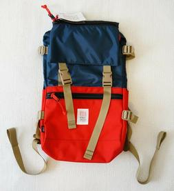 NEW Topo Designs Rover Pack Backpack - Navy Blue Red