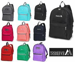 NEW EVEREST School  Backpack  Book & Sport Bag in 3 Solid Co