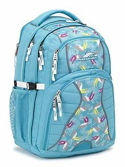 NEW High Sierra Swerve Laptop Backpack, Tropic Teal/Toucan/W