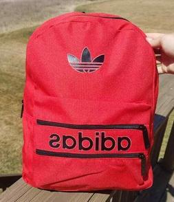 New Adidas Trefoil Logo Backpack Vintage Style