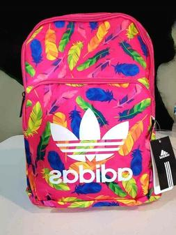 New Adidas Trefoil Logo Backpack Vintage Style School Bag Gy