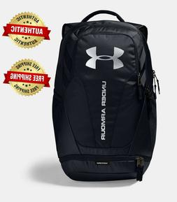 NEW Under Armour UA HUSTLE 3.0 Storm™ Black Silver Backpac