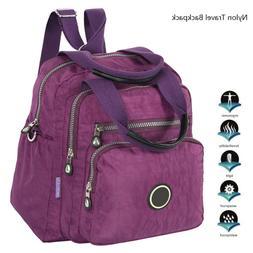 New Women's Backpack Travel Nylon Elegant Handbag Rucksack S