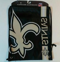 NFL New Orleans Saints Logo Drawstring Backpack Fan Gym Spor